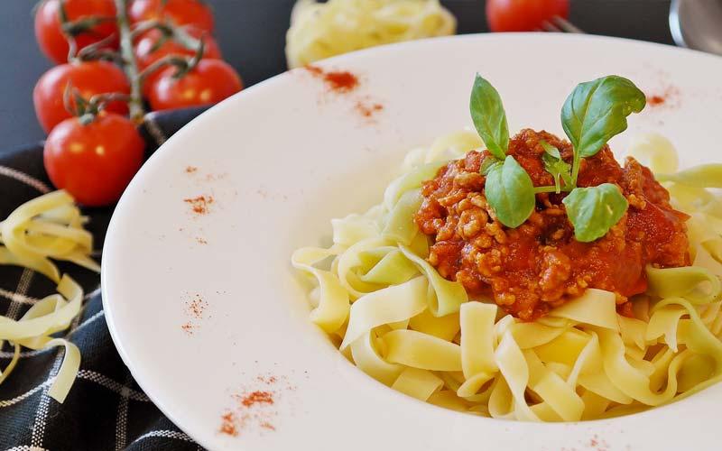 Un piatto di pasta per una dieta equilibrata da 1200 calorie