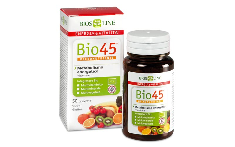 Bio45 Biosline: un nuovo multivitaminico da scegliere